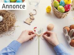 Et bord med påsketing